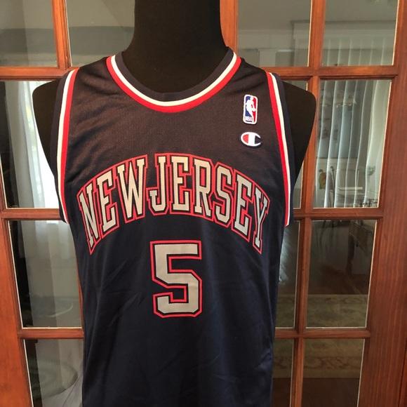 huge selection of 0b9ab d808a Champion NBA NJ Nets Jason Kidd #5 Jersey